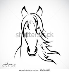 Find horse head stock images in HD and millions of other royalty-free stock photos, illustrations and vectors in the Shutterstock collection. Thousands of new, high-quality pictures added every day. Horse Face Drawing, Horse Drawings, Simple Line Drawings, Easy Drawings, Horse Head, Horse Art, Cute Baby Horses, Horse Stencil, Stencil Art