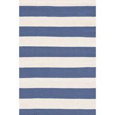 Catamaran Stripe Denim/Ivory Indoor/Outdoor Rug