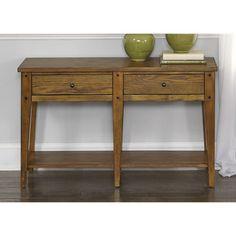 Liberty Lake House Transitional Oak Sofa Table