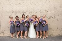 Amazing Wedding Party Group Shots in this Grey and Purple Wedding - Kiss My Tulle