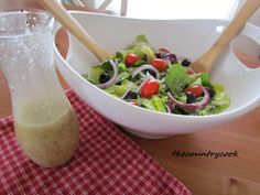 Olive Garden Salad Dressing-take off recipe. I have used this dressing twice now. We all thought it tasted REALLY close to the Olive Garden dressing.