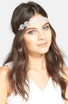 Nina Crystal Stretch Headband - Metallic $38.00 AT vintagedancer.com