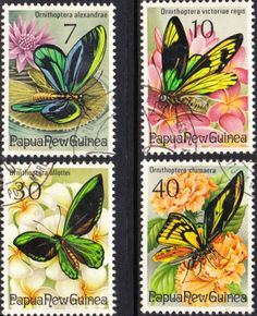 Papua New Guinea 1975 Fauna Conservation Butterflies Set Fine Used SG 2816/9 Scott 415/8 Other European and British Commonwealth Stamps HERE!