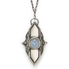 Pamela Love Shield Pendant with moonstone