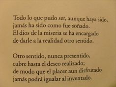 Fragment of a poem of Reinaldo Arenas