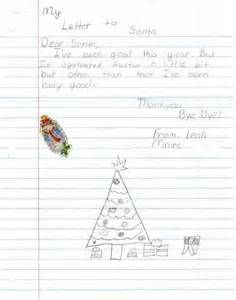 Kids Letters To Santa  Santa And Craft