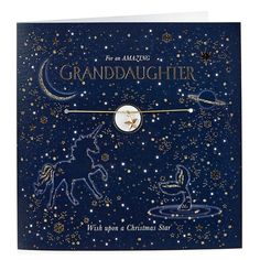 Exquisite Collection Christmas Card - Granddaughter With Star Charm | Card Factory