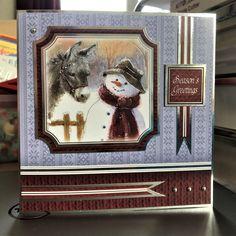 Weihnachtskarte Pop-Up 3D Motiv Weihnachtsmann und Glitzer Luxus Grußkarte