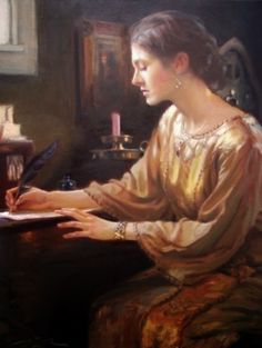 303 best art women letters writing images on pinterest wood f michael woman writing letter publicscrutiny Gallery