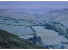 Exhibited at Royal Institute of Painters in Water Colours Exhibition, Summer Haze Exmoor measures 35 x 43 cm and is available for Artist Workshop, Watercolor Landscape, Watercolour, In The Tree, Watercolor Techniques, Contemporary Artists, Galleries, Mall, Colours