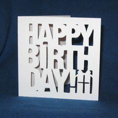 Happy Birthday Present Handmade card by madebystephaniestore, $5.00