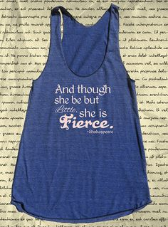 Shakespeare Quote Tank Top  Womens Shirt  Though by QuotationQuail