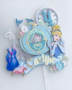 Diy Cake Topper, Custom Cake Toppers, Cricut Cake, Raven Queen, Cute Themes, Baby Presents, 3d Letters, Make Design, Princesas Disney