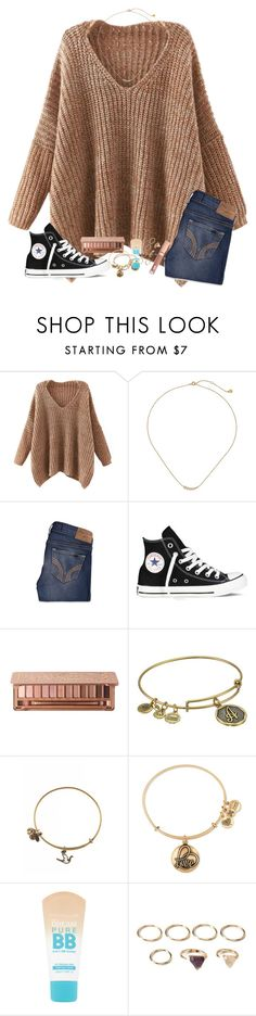 """""""no better time for your shine, you're a star ✨"""" by ab1525 ❤ liked on Polyvore featuring Chicnova Fashion, Gorjana, Hollister Co., Converse, Alex and Ani, Maybelline, Forever 21 and Charlotte Tilbury"""