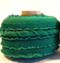 "3"" Flat Unfolded Binding Fabric - Ruffles in Green"