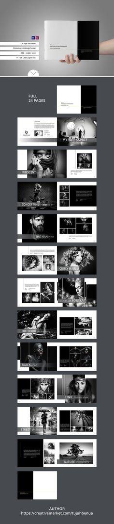 Simple Portfolio Photography  Brochures Photobook Template