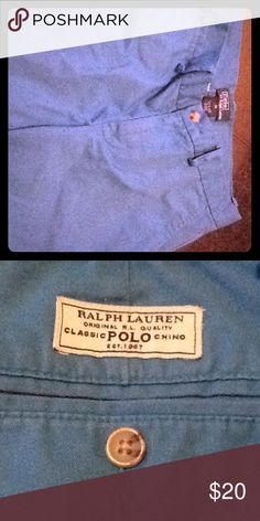 Ralph Lauren shorts Beautiful ocean blue. Boys size L (14). Lightly worn, practically brand new. No flaws or defects. Smoke and pet free home. Bottoms