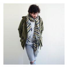 Echarpe en laine et soie tissée LORD de Monsieur Charli - Monsieur Charli