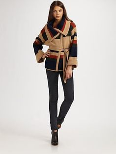 Graphic sweaters are hard to pull off without looking like a grandma or an 80's flashback, but this one is super chic.