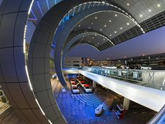 Stylish Modern Architecture of the 2010 Opened Terminal 3 of Dubai International Airport, Dubai, UAE