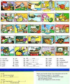 Food preparation and recipes vocabulary