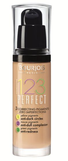 Tackling dark circles, dull skin, redness and uneven skin tone in one fell swoop, here is my new go-to foundation- the 123 Perfect Foundation from Bourjois.  It is enriched with cotton flower to hydrate your skin and leave a soft matt finish for up to 16 hours – impressive - as well as SPF 10.