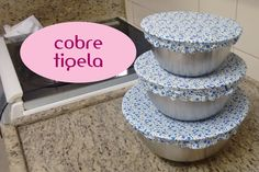 Como fazer cover bowls (tampa de tecido) Towel Crafts, Yarn Crafts, Fabric Crafts, Sewing Crafts, Sewing Projects, Sewing Diy, Aya Couture, Crafts To Sell, Diy And Crafts