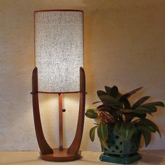 Mid-Century Modern Table Lamp by Lise Vintage Lighting