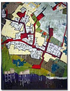 cool idea; use maps as basis for quilt designs