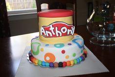 Playdoh party - birthday cake