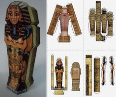 Mummy`s Sarcophagus Paper Model - by Papermau
