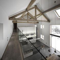 Cat Hill Barn Interior Snook Architects, photography by Andy Haslam 2012 Barn House Conversion, Barn Conversion Interiors, Barn Conversions, Home Interior Design, Interior Architecture, Casa Loft, Contemporary Barn, Converted Barn, Casas Containers