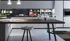 modèle de cuisine avec ilot central