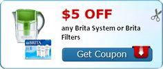 $5.00 off any Brita System or Brita Filters - http://getfreesampleswithoutsurveys.com/5-00-off-any-brita-system-or-brita-filters