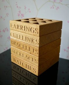 Personalised Wooden Jewellery Box