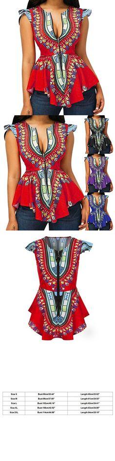 CUCUHAM Women Asymmetric Hem Cap Sleeve Printed Zipper Closure Blouse Tops Black Slacks, 40th Birthday, Perfect Match, Blouses For Women, Cap Sleeves, Denim Jeans, Peplum Dress, Spring Summer, Closure