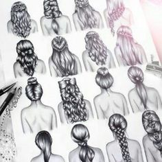 Imagem de hair, drawing, and hairstyle