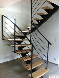 escalier double cremaillere acier rennes vitre fougeres | Small ...