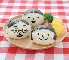 Smiling+Face+Onigiri+and+Bento+Lunchbox+Art+Set