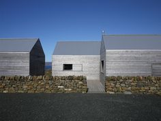 Borreraig house by Dualchas Architects: The larch cladding has a beautiful silvery texture. Photo: Andrew Lee