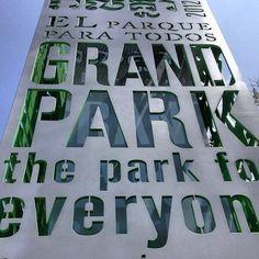 Grand Park Down Town LA by Rios Clemente Hale #signage #park #riosclementehale #architecture #landscape #losangeles (Taken with Instagram)