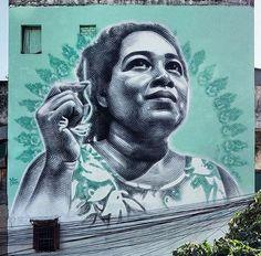 Obra de arte en un mural de Guadalajara, México. Por El Mac
