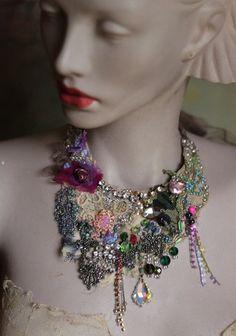Nice >> Classic bouquet necklace II daring delicate shabby by FleursBoheme...