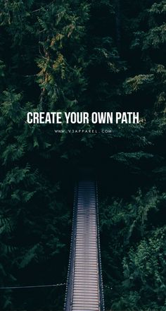 Create your own path.  Head over to www.V3Apparel.com/MadeToMotivate to download this wallpaper and many more for motivation on the go! / Fitness Motivation / Workout Quotes / Gym Inspiration / Motivational Quotes / Motivation