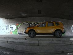 """Dacia Duster - Tuning """"The Dacia Duster project was born out of the simple premise that a real need existed in the world for an affordable, comfortable and rugged a class which is currently no. 4x4, Camper, Deviantart, Projects, Simple, Cars, Log Projects, Caravan, Blue Prints"""