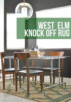 west elm knock off rug tutorial