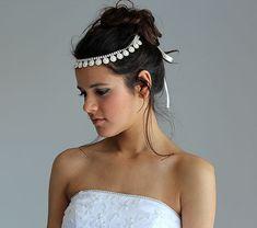 Pearl and Rhinestone  Headband Bridal  Headband Wedding by ADbrdal