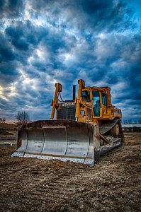 Cat Bulldozer Print by Mike Burgquist
