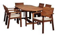 Amazonia 7-Piece Nelson Eucalyptus Oval Extendable Dining Set