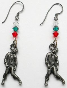 Shelly's Selections Christmas Zombie Earrings by CrashsCuriosities